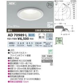 コイズミ照明(KOIZUMI) LED防雨防湿ダウンライト【電気工事必要】 LED(昼白色) 白熱球100W相当 AD70989L