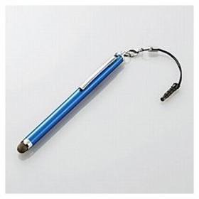 エレコム TB-TPLS01BU タブレット/スマートフォン対応[イヤホンジャック] 導電繊維タッチペンロング (ブルー) (TBTPLS01BU)