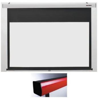 【納期目安:2週間】キクチ SS-120HDWA/R 16:9ワイドスプリングローラータイプ120インチスクリーン「HD ホワイトマットアドバンス 」 (レッド)