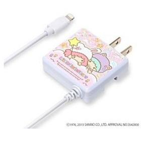 PGA iPhone / iPod対応[Lightning] AC充電器 (1.2m・リトルツインスターズ きぐるみホワイト) MFi認証 PG-KTYMFI086WH