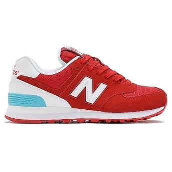 (セール)New Balance(ニューバランス)シューズ カジュアル WL574CNCB WL574CNCB レディース RED/WHITE
