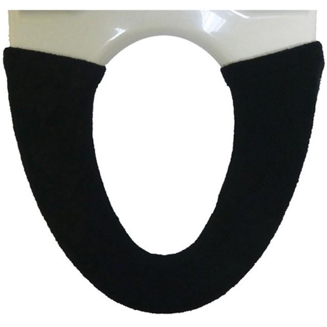 ヨコズクリエーション:Feuille(フィーユ) カバー(洗浄・暖房便座専用) ブラック 837110