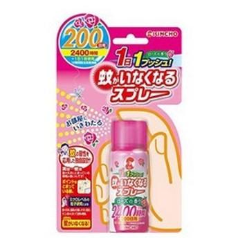 《KINCHO》 蚊がいなくなるスプレー 200日 45ml ローズの香り (殺虫スプレー) 【防除用医薬部外品】