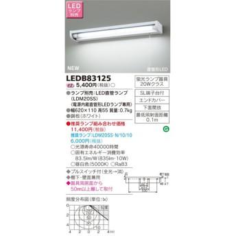 東芝ライテック 照明器具 LEDキッチンライト 流し元灯 棚下・壁面兼用タイプ 蛍光灯20W相当 プルスイッチ付 LEDB83125