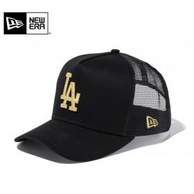 【メーカー取次】 NEW ERA ニューエラ 9FORTY D-Frame Trucker ロサンゼルス・ドジャース ブラック×ゴールド 11433995 メッシュキャップ メンズ 帽子 ブランド