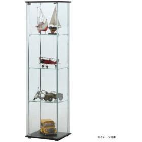 【メーカー直送】不二貿易 ガラスコレクションケース 4段 ブラウン TMG-G21 96047