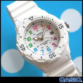 専用BOXなし 腕時計 CASIO チープカシオ チプカシ レディース 腕時計 デジタル LRW-200H-7B チープカシオ チプカシ ダイバーズ デザイン ホワイト 白 防水