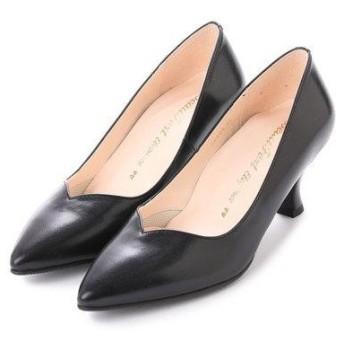ビューフォートエレガンス BeauFort elegance 6センチヒール2Eコンフォートパンプス (ブラック)