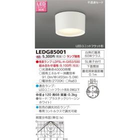 東芝ライテック 照明器具 LEDユニットフラット形対応 シーリングダウンライト 調光対応 白熱灯60W相当 LEDG85001