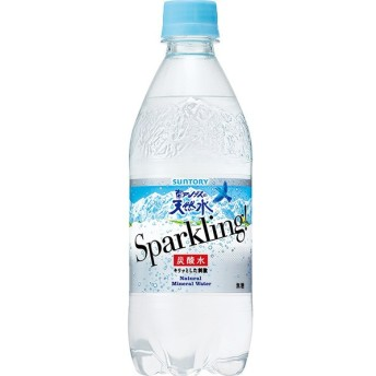 南アルプスの天然水 スパークリング 500ml(24本入)炭酸水 ソーダ サントリー
