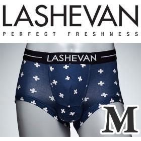 ラシュバン LASHEVAN プレミアム アンダーウエア ボクサーパンツ パンツ LS0117-CRB クロスブルー/M