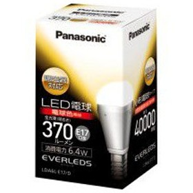パナソニック LDA6LE17D 【創業74年、新品不良交換対応】 LED電球 E17口金 電球色 6.4W 小形電球タイプ エバーレッズ 調光対応