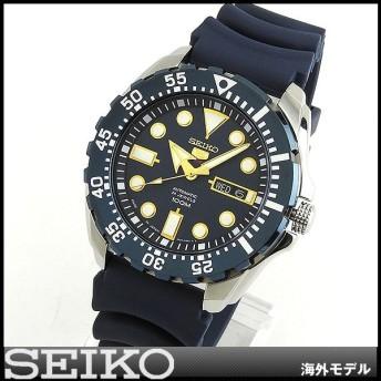 SEIKO セイコー 逆輸入 海外モデル 機械式 メカニカル 自動巻き SRP605J2 アナログ メンズ 男性用 腕時計 ウォッチ 青 ネイビー ウレタン バンド ダイバー