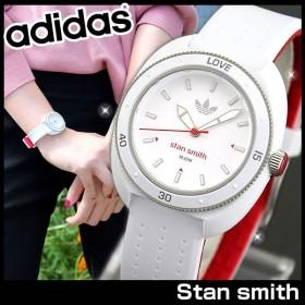 0c1c6e521d adidas アディダス STAN SMITH スタンスミス 白 赤 レディース 腕時計 防水 ホワイト レッド ラバー バンド キッズ