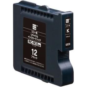 エコリカ ECI-RC12B リコー RC-1K12互換リサイクルインクカートリッジ ブラック