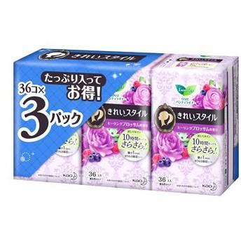 花王 ロリエ きれいスタイル リラックスフローラルの香り (36コ入×3パック) パンティライナー