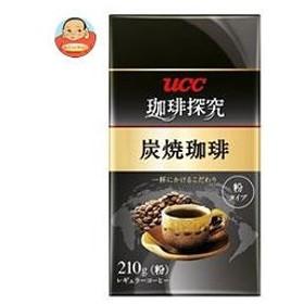 UCC 珈琲探究 炭焼珈琲(粉) 210g袋×24(6×4)袋入