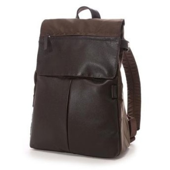 イザック Y'SACCS Nylon×Cow leather combi series Rucksack(BROWN)