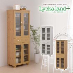 食器棚 60cm幅 カップボード キッチン収納 Lycka land FLL-0011 NA