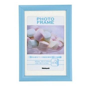 ナカバヤシ 樹脂製 フォトフレーム KG判/L判 ブルー フ-TPS-201-B