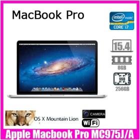 Apple Macbook Pro MC975J/A [core i7 2.3Ghz 8G SSD256GB 無線 Retina15.4インチ OS:10.8.5] :良品 中古 ノートパソコン