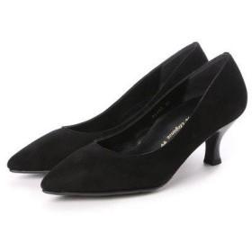 ビューフォートエレガンス BeauFort elegance 2Eウイズウォーキングパンプス (ブラックスエード)