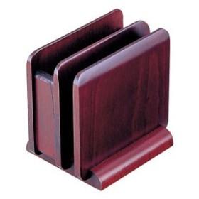 ヤマコー 木製 ナフキン&メニュースタンド 15242(ブラウン) PNHA2