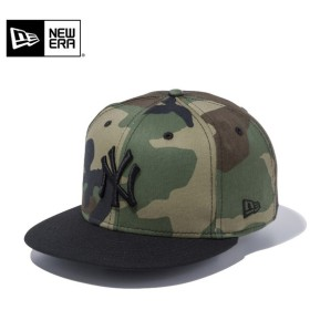 【メーカー取次】 NEW ERA ニューエラ 9FIFTY ニューヨーク・ヤンキース ウッドランドカモXブラック 11308466 キャップ メンズ 帽子 メジャーリーグ 野球