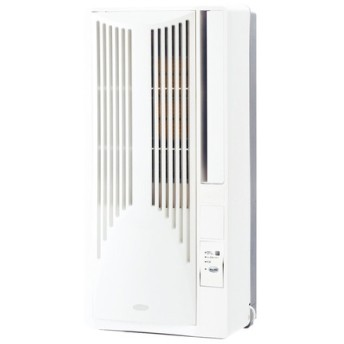 コイズミ 窓用エアコン 高さ75cmのコンパクト設計/リモコン付 KAW-1962/W