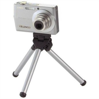 エレコム デジカメ用三脚(コンパクトデジタルカメラスタンド) グラフギア シルバー DGT-010SV 代引不可