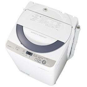 シャープ 全自動洗濯機 (洗濯5.5kg) ES-GE55R-H