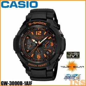 (在庫処分)腕時計 カシオ 電波ソーラー Gショック GW-3000B-1AJF