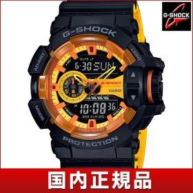 CASIO カシオ G-SHOCK Gショック 多機能 GA-400BY-1AJF 国内正規品 アナログ デジタル メンズ 腕時計 ウォッチ 黒 ブラック 黄色 イエロー ウレタン バンド