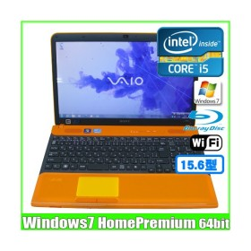 SONY VAIO VPCCB39FJ [corei5 2430M (2.40Ghz)/8G/750GB/Blu-ray無線/Webカメラ/Win7 64bit/15.5型ワイド] (Orange):良品 中古 ノートパソコン Office