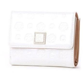 クレイサス CLATHAS ベティー 口金2つ折り財布 (ホワイト)