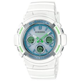 カシオGショック白 ソーラー電波腕時計 CASIO G-SHOCK AWG-M100SWG-7AJF メンズ 国内正規品 【動画有】