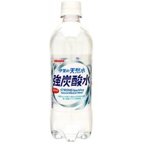 送料無料 炭酸水 サンガリア 伊賀の天然水 強炭酸水 500ml×24本/1ケース