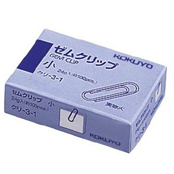 コクヨ ゼムクリップ 小 約100本入 クリ-3-1