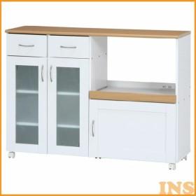 キッチンカウンター サージュ WH×NA 120幅 ナチュラル/ホワイト 96820  (D)