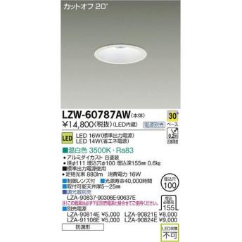 大光電機 施設照明 アウトドア LEDダウンライト LZ1 温白色 LZW-60787AW 【LED照明】