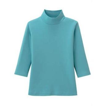 汗染み防止着やせTシャツ 7分袖 ターコイズ M