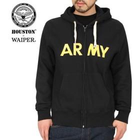 WAIPER別注 HOUSTON ヒューストン U.S.ARMY ミリタリースウェットパーカー BLACK [13WP01] ミリタリースウェット ブランド【Sx】