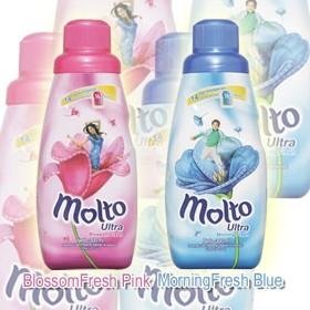 (在庫処分特価) モルト 柔軟剤 ウルトラ 300ml ブロッサムピンク/フレッシュモーニング molto 液体柔軟剤