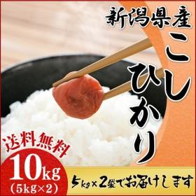 コシヒカリ お米 10kg 新潟県産 送料無料 (5kg×2袋) 10キロ こしひかり こめ 米 おいしい ごはん うるち米 精白米 セール