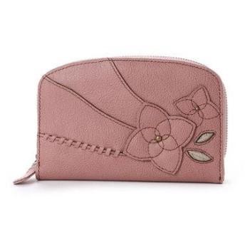 エスノ Ethno ラウンドジップ 2つ折財布 (ピンク)