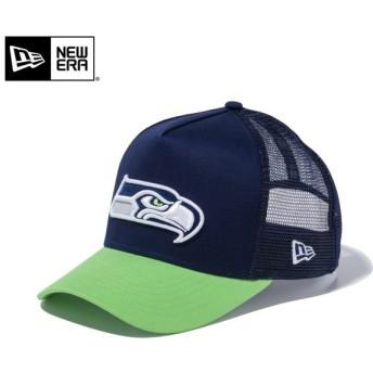 【メーカー取次】 NEW ERA ニューエラ 9FORTY D-Frame Trucker シアトル・シーホークス オーシャンサイドブルー 11434230 メッシュキャップ メンズ 帽子【Sx】