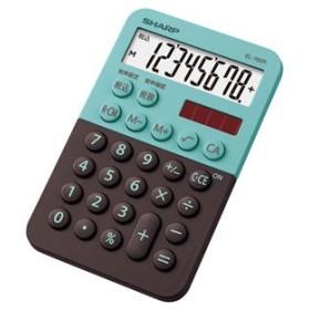 シャープ 電卓 8桁(グリーン系) ミニミニナイスサイズ電卓 EL-760R-GX 返品種別A