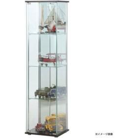 【メーカー直送】不二貿易 ガラスコレクションケース 4段 背面ミラー付き ブラウン TMG-G21 96046