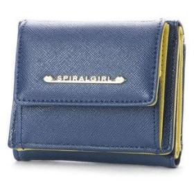 スパイラルガール SPIRAL GIRL シンプルライン3つ折り財布 (ネイビー)