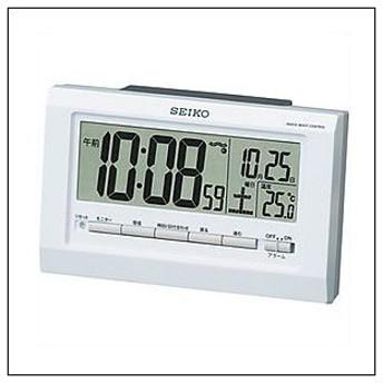 SEIKO セイコー クロック SQ755W 目覚まし時計 電波時計